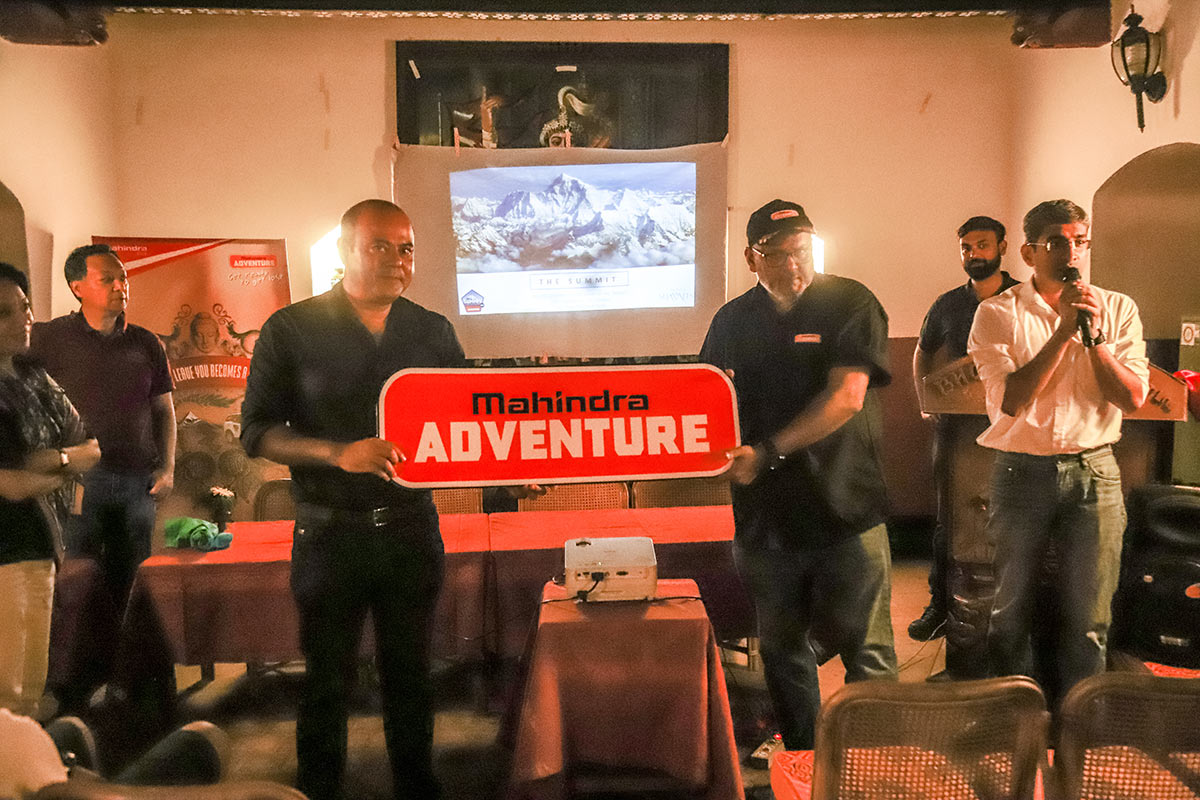 The Announcement Was Made In The Presence Of Bijoy Kumar Y Chief Of  Adventure Initiatives, Mahindra U0026 Mahindra Ltd., Mr. Cabinet Shrestha, MD,  ...