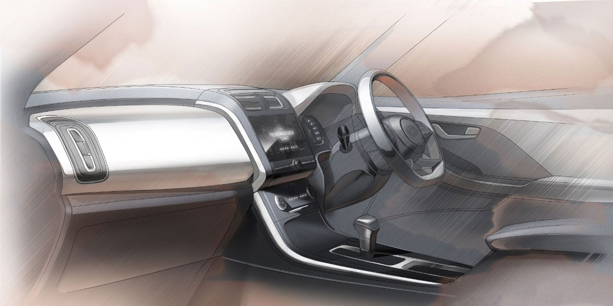 2020 Hyundai Creta Interior Sketch 1