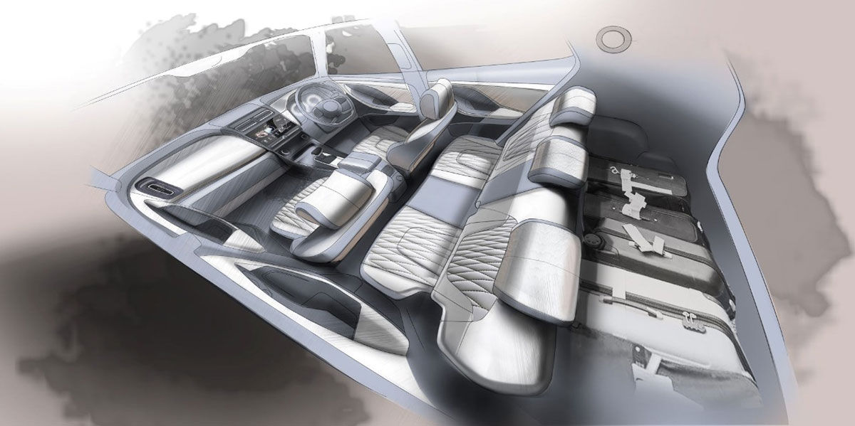 2020 Hyundai Creta Interior Sketch 2