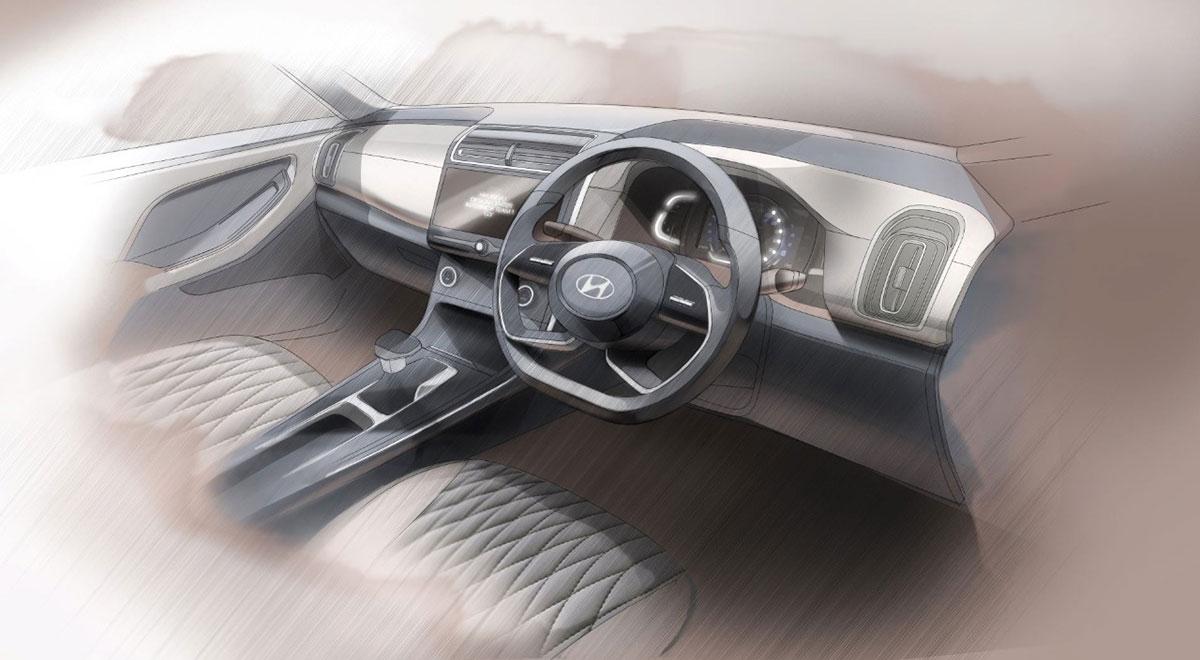 2020 Hyundai Creta Interior Sketch 3