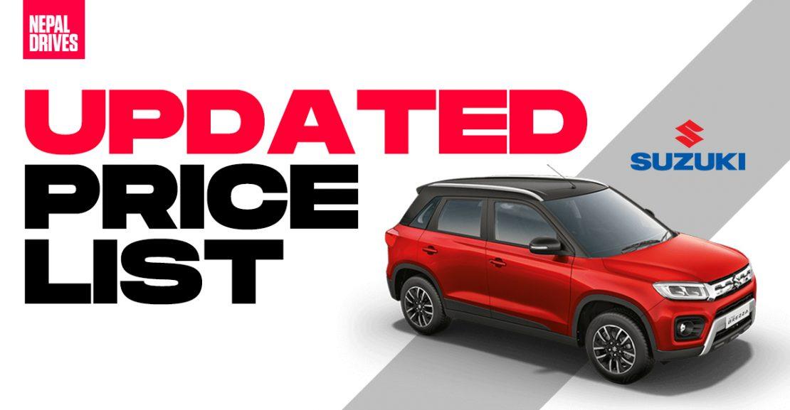 Maruti Suzuki cars nepal price new cars brezza baleno swift featured image