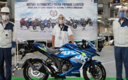 Suzuki Gixxer 5 millionth bike Gixxer SF 250 India Featured Image