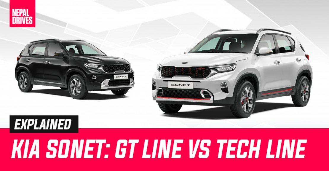 Kia Sonet Nepal GT Line Tech Line Featured Image