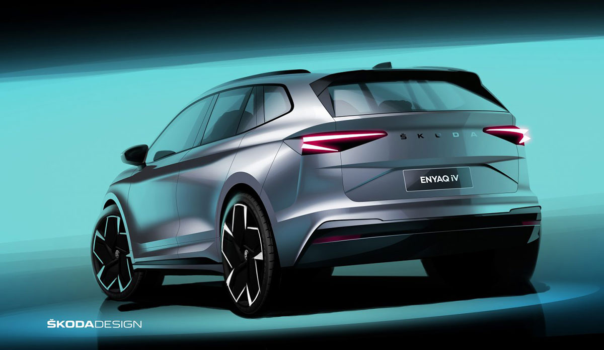 Skoda Enyaq iV Official Sketch 2