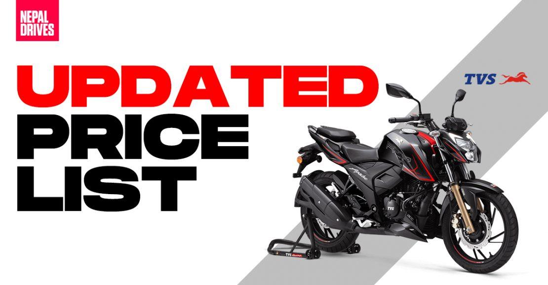 TVS bikes scooters nepal updated price list apachertr ntorq featured image
