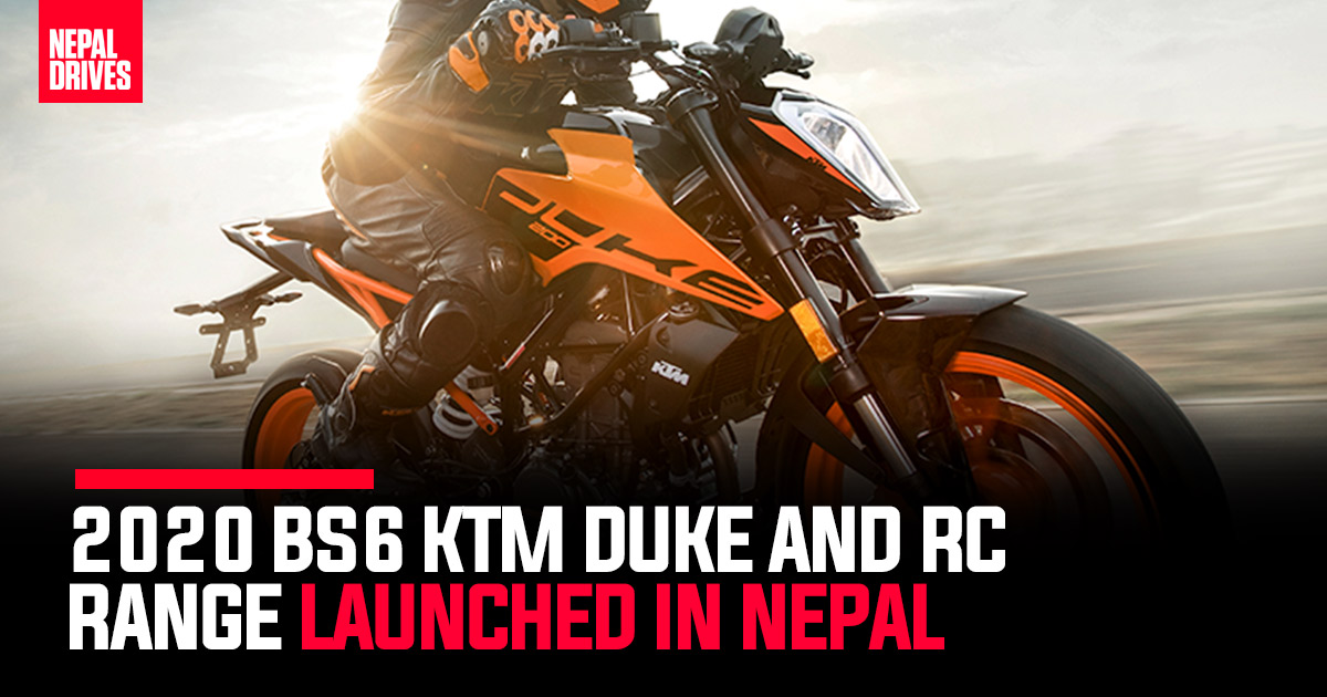 2020 Bs6 Ktm Duke And Rc Models Launched In Nepal