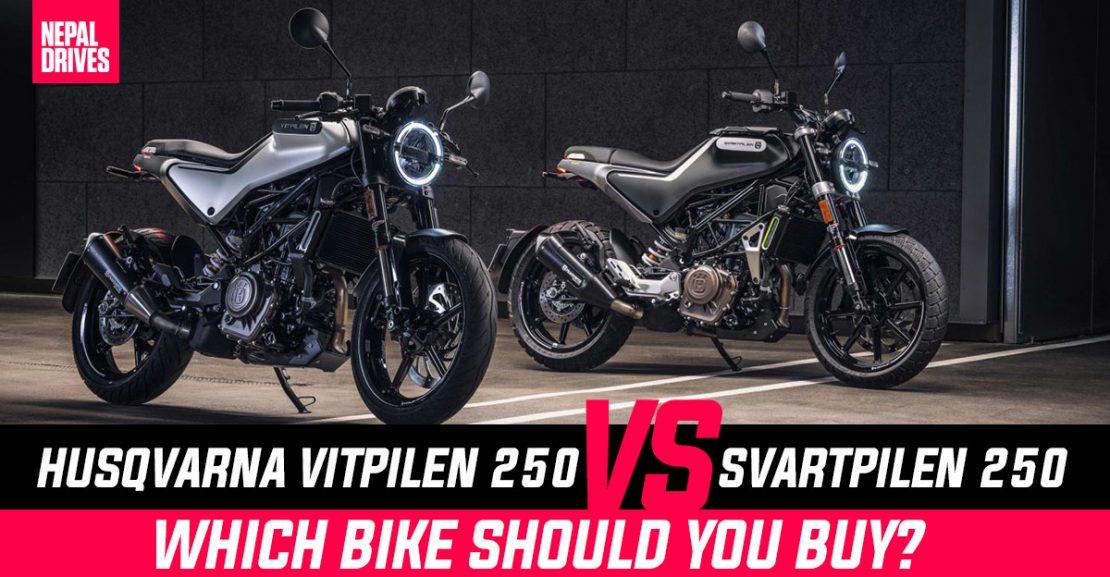 HusqvarnaVitpilen250 Svartpilen250 Nepal Price Features Difference Featured Image
